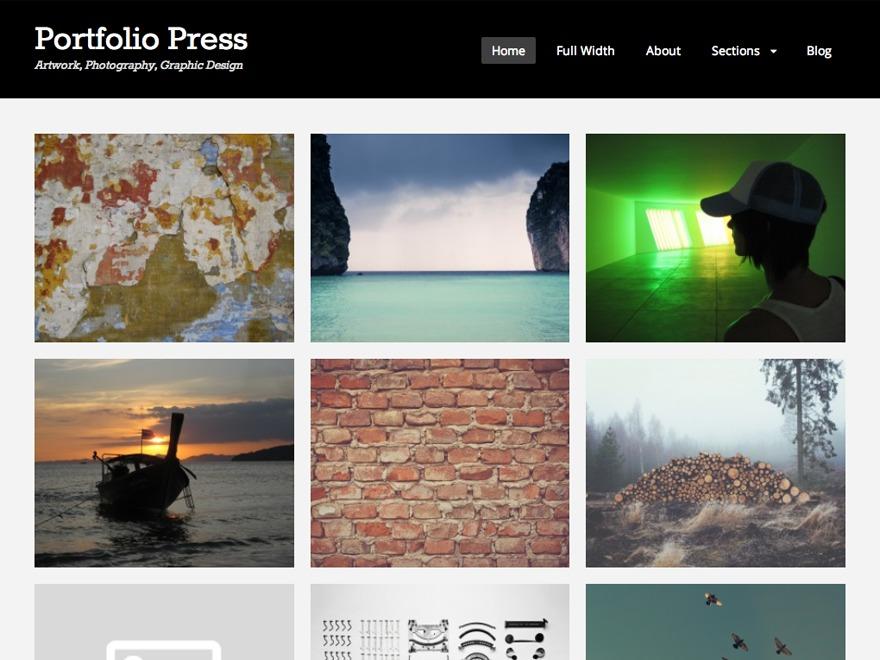 Portfolio Press Custom WordPress gallery theme
