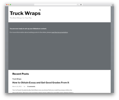 presence WordPress theme design - truckwraps.org