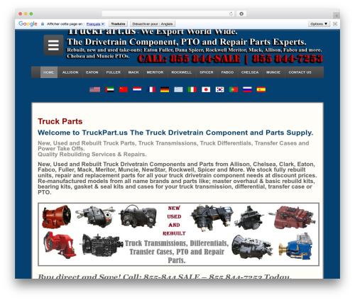 Responsive theme WordPress free - truckpart.us