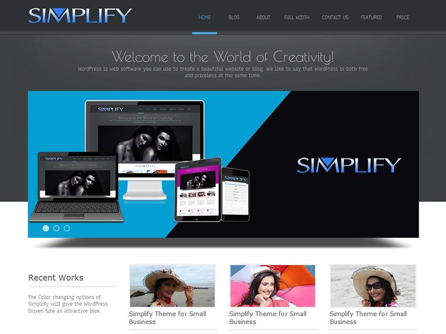 Simplify child company WordPress theme