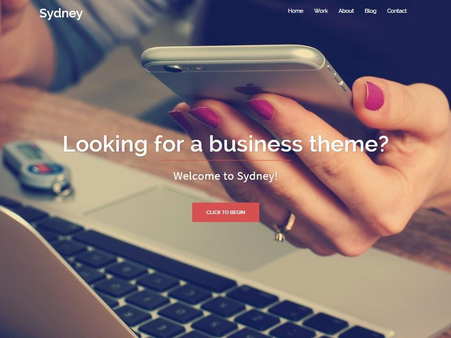 sydney child theme WordPress page template