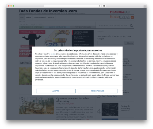 Tema Financial Red V3 WordPress theme by Ib?n L?pez - latest