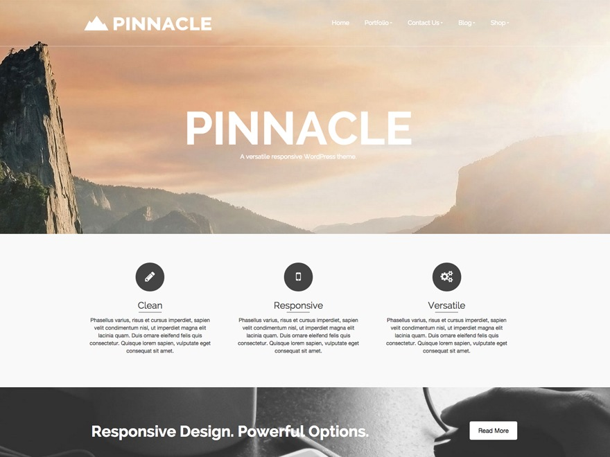Template WordPress Pinnacle Child
