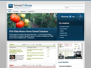 TerranTribune Wordpress Theme WordPress news theme