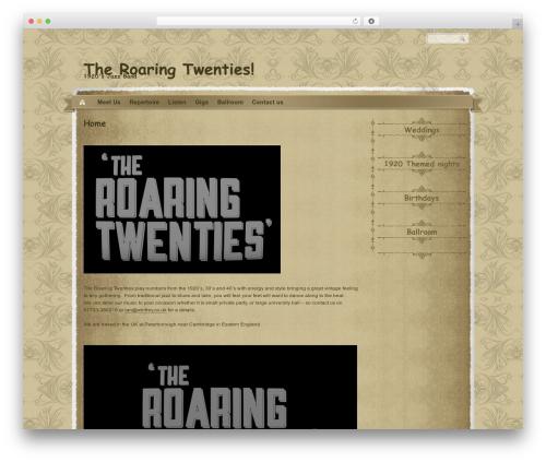 The Vintage WordPress template - tr20s.co.uk