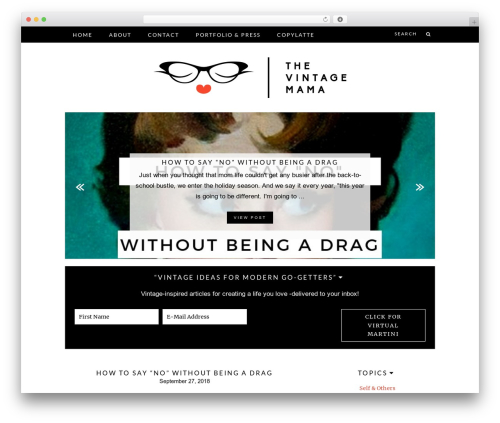 Theme WordPress Charlotte - thevintagemama.com