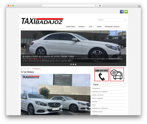 Theme WordPress Sofix - tutaxibadajoz.com