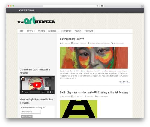 TruePixel premium WordPress theme - thearthunter.com
