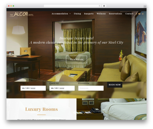 Twenty Sixteen best hotel WordPress theme - thealcorhotel.com