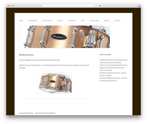 Twenty Twelve theme WordPress free - tempest-drums.de