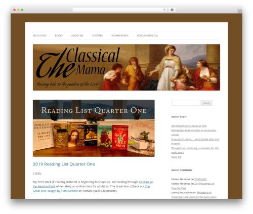 Twenty Twelve WP theme - theclassicalmama.com