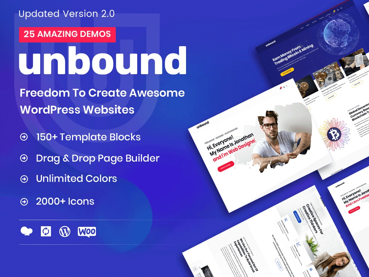 unbound WordPress template for photographers
