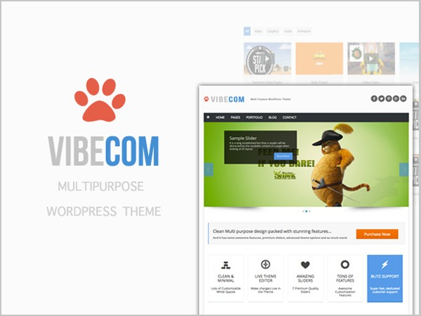 VibeCom (shared on wplocker.com) theme WordPress