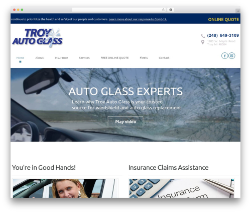 Free WordPress WP Responsive Menu plugin - troyautoglass.com