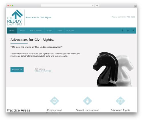 WordPress theme Attorney - thereddylaw.com