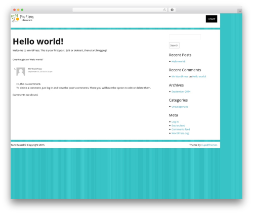 WordPress theme Count Down - thomasrussell.me