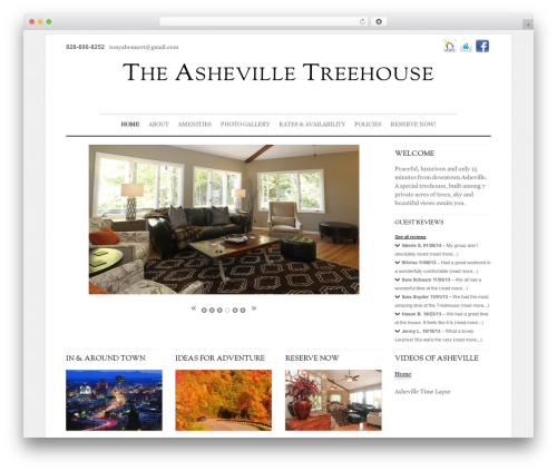 WordPress theme Elemin - theashevilletreehouse.com
