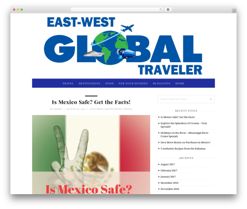 30 Day Blog Challenge WordPress blog theme - eastwestglobaltraveler.com