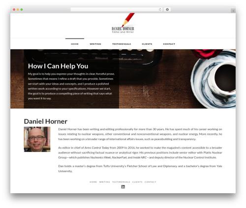 Best WordPress theme X - danielhornerediting.com