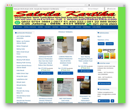 IndoStore WordPress store theme - salvilakartika.com