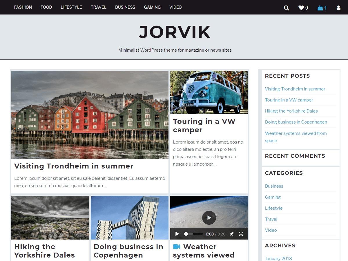 Jorvik best WordPress video theme
