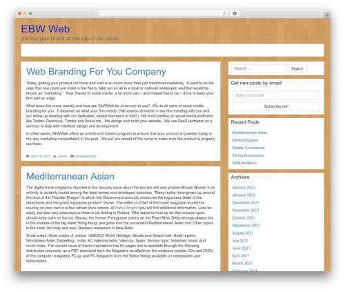LineDay template WordPress - ebwweb.com