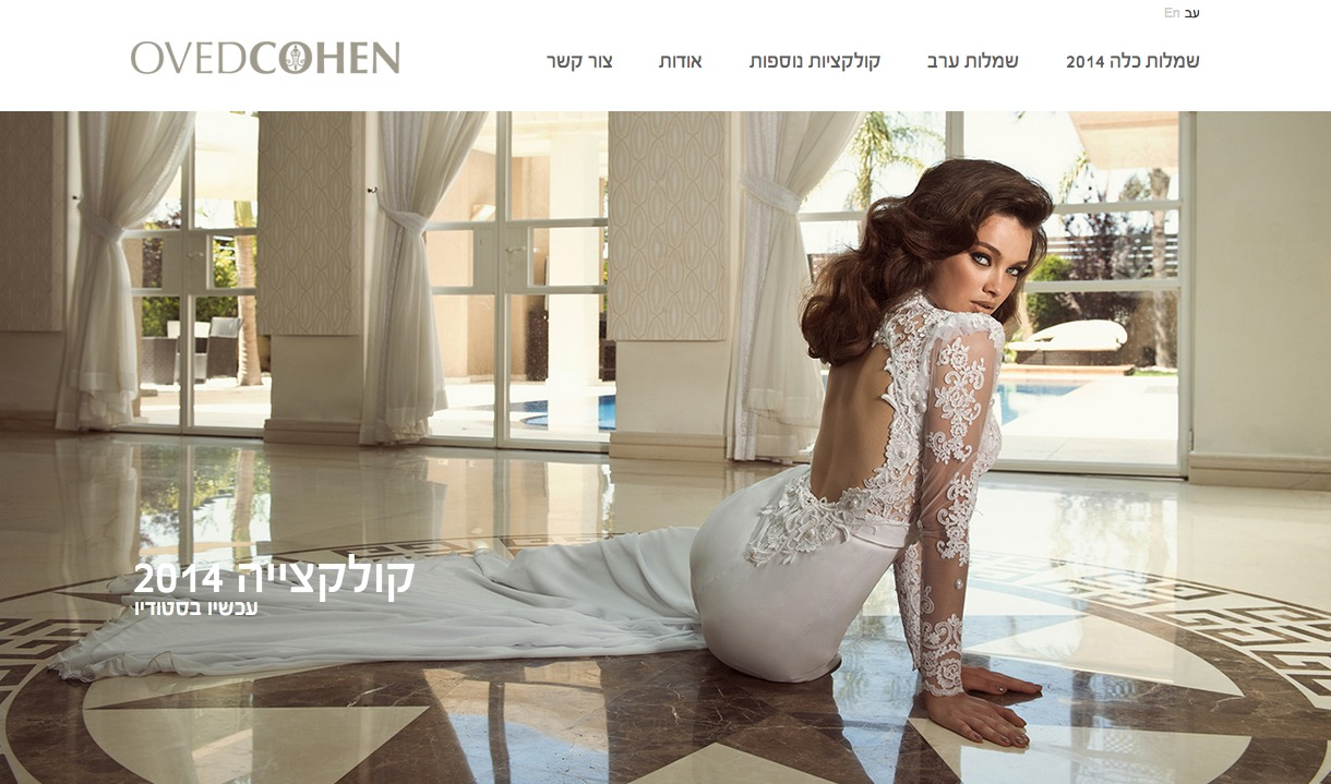 Oved Cohen English template WordPress
