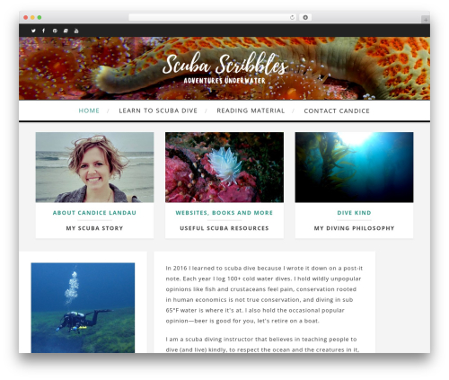 Theme WordPress Amory - scubascribbles.com