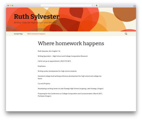 Theme WordPress Twenty Thirteen - ruthsylvester.com