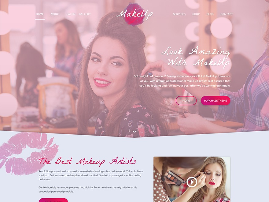WP Makeup Child WordPress news template