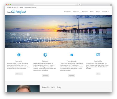 Zoner WordPress theme - flwaterfront.com
