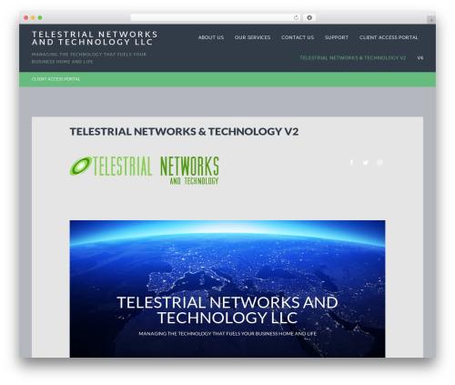 Baton Pro WordPress template for business - telestrialnetworks.com