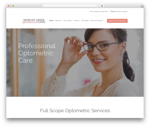 Best WordPress template Optometry - morgancreekoptometry.com