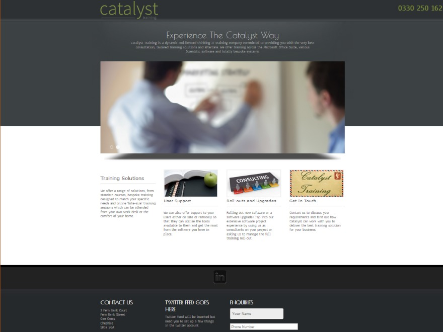 Catalyst Training business WordPress theme