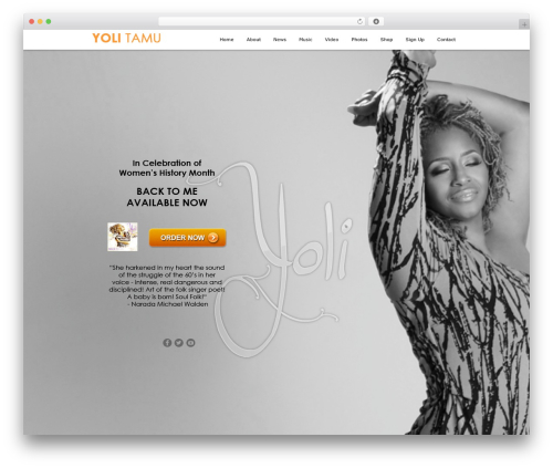 Encore WordPress website template - yolimusic.com