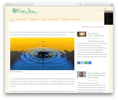 Handdrawn-lite WordPress theme design - olinkapsicologia.com
