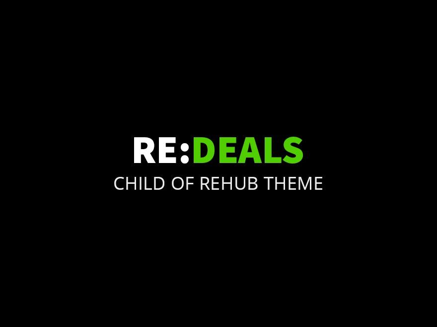 Rehub child theme - Redeals newspaper WordPress theme