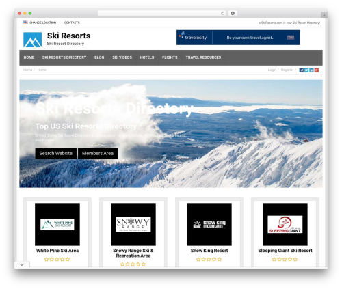 Responsive Business Theme theme WordPress - e-skiresorts.com