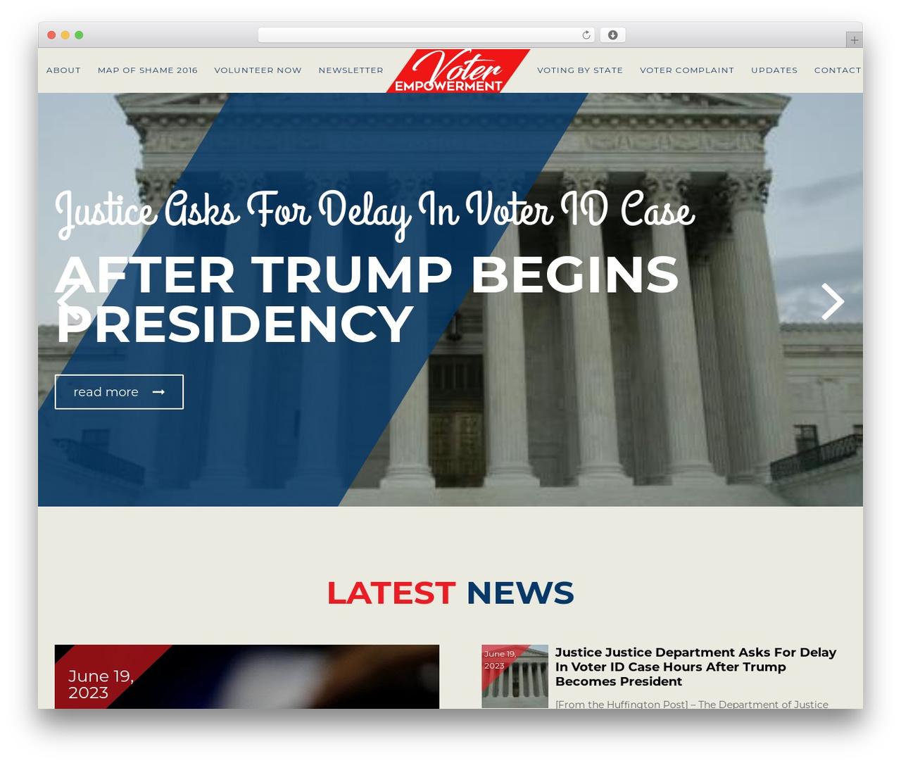 Theme WordPress Politist - 4votingrights.com