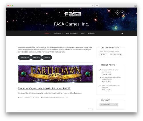 WordPress theme Pixgraphy - fasagames.com