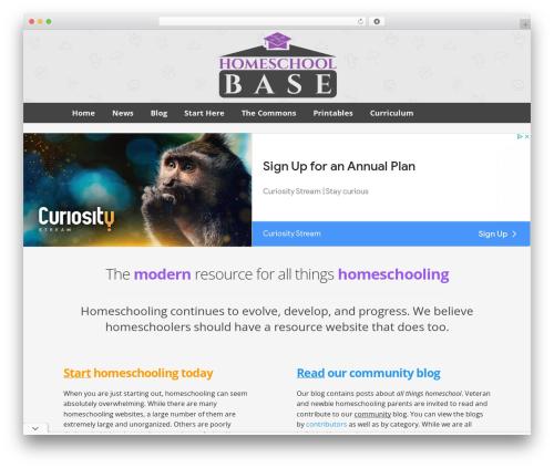 WP template Buso Lightning - homeschoolbase.com