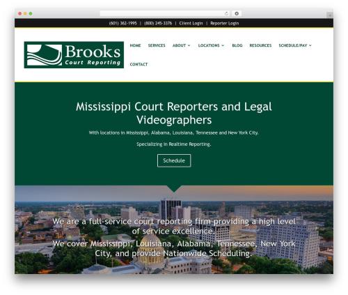 Divi WordPress theme - brookscourtreporting.com