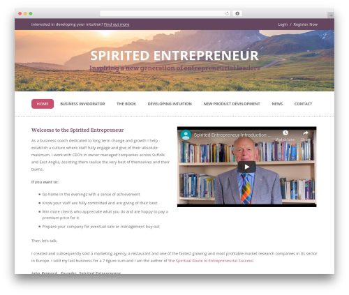 Guru WordPress theme - spiritedentrepreneur.com