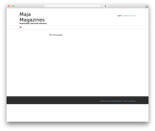 JShop WordPress theme free download - majamagazines.com