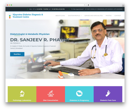MedicPlus WordPress theme design - diabetesatvijayratna.com
