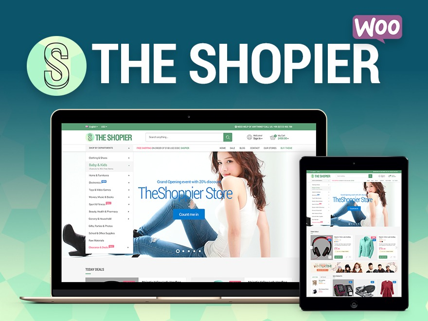 TheShopier WordPress ecommerce template