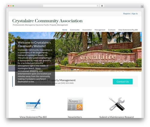 WordPress website template Spacious Pro - crystalairehoa.com