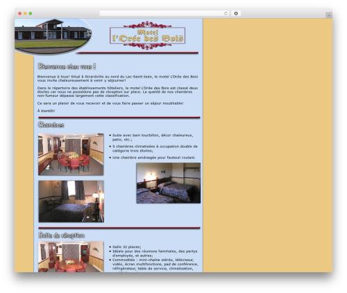 WP template BLANK Theme - oreedesbois.com