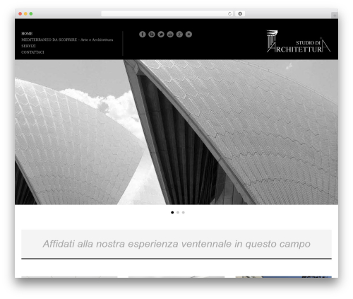 Architecture WordPress theme - architetturaitaliana.com