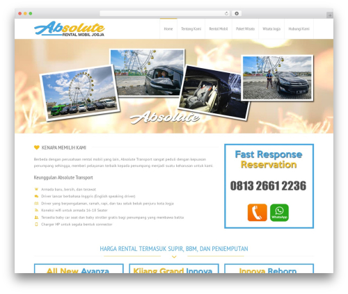 Best WordPress template RT-Theme 18 - rentalmobiljogjatermurah.com